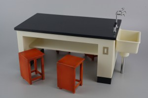 54_science room desk and chair ( HASEGAWA 1-12 )